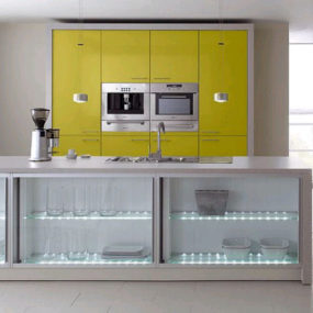 Modern European Kitchens – the spring colors of ALNO contemporary kitchens