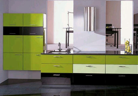 alno alnogrand lime green kitchen Modern European Kitchens   the spring colors of ALNO contemporary kitchens