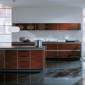 Exotic Modern Kitchen by ALNO – new ALNOArt Woodglas kitchen
