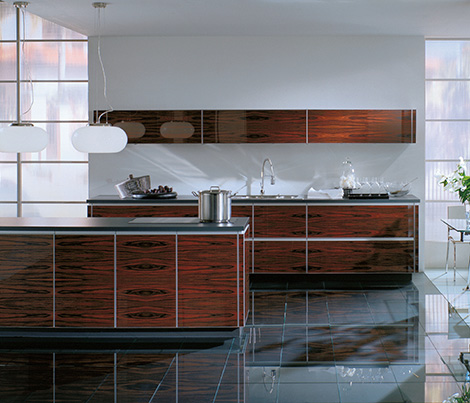 alnoartwoodglas Exotic Modern Kitchen by ALNO   new ALNOArt Woodglas kitchen