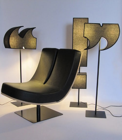 alphabet chairs punctuation mark lamps tabisso 2