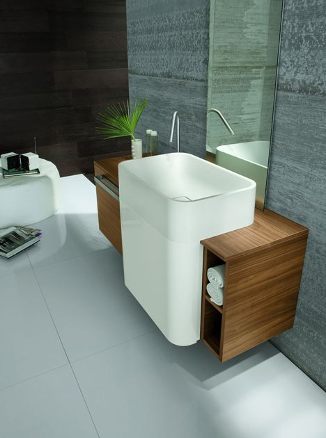 altamarea unusual wall hung bathroom vanities with sink 1 Wall Hung Bathroom Vanities with Sink by Altamarea