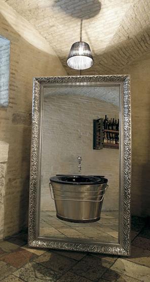 altamarea vanity secjo 3 Altamarea Secjo Vanity mounted onto a large mirror
