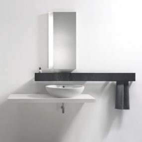 Aluminium Faucet System from Agape – new Sen includes soap dispenser, towel holder and more