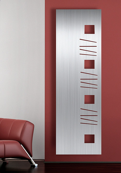 Aluminium Panel Radiators – new vertical wall mount radiator Paxton by Aestus
