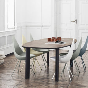 Analog Table and Drop Chair: Republic of Fritz Hansen