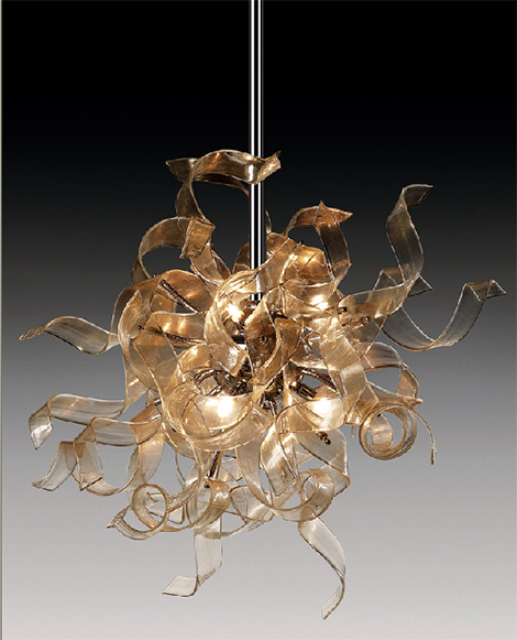 andromeda nastro hanging lamp Contemporary Glass Lighting by AndromedA   Nastro glass hanging lamps