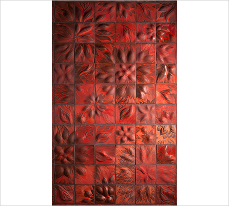 ann sacks tile murals Tile Mural Backsplash   new Sculptural Tiles by Ann Sacks