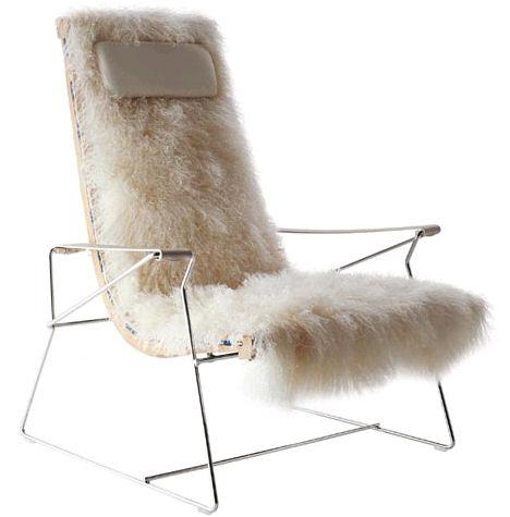 antonio citterio arne jj chair Fur Chair by Antonio Citterio   the J.J armchair