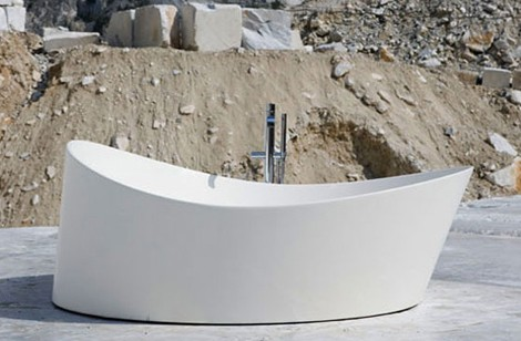 antonio lupi bathtub dune 1 Circular Bathtubs   new round bathtub Dune by Antonio Lupi doesnt appear round