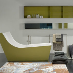 High Backrest Bathtub – modern high-back bath by Antonio Lupi