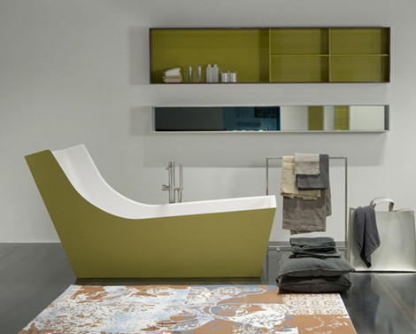 High Backrest Bathtub – modern high-back bath by Antonio Lupi