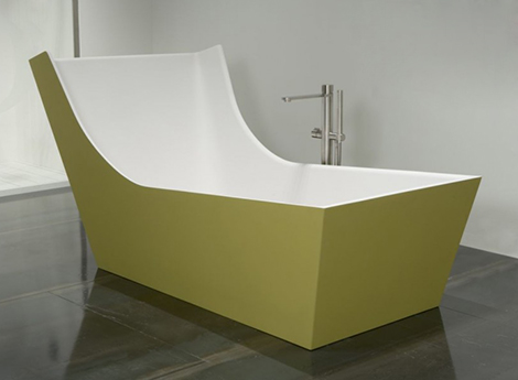 antonio lupi bathtub kuna 2 High Backrest Bathtub   modern high back bath by Antonio Lupi