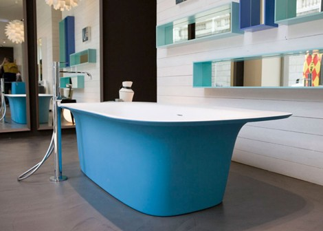 Blue Bathtubs – Sartoriale bathtub by Antonio Lupi