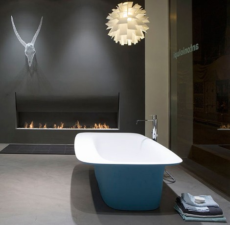 antonio lupi blue bathtub sartoriale 2 Blue Bathtubs   Sartoriale bathtub by Antonio Lupi