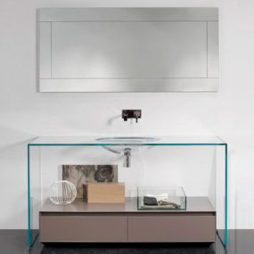 Contemporary Glass Vanity by Antonio Lupi – Brillante