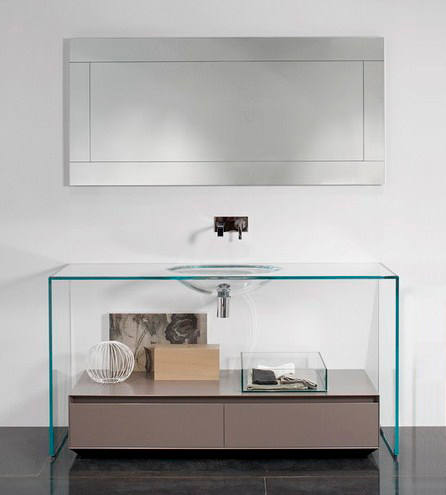 antonio lupi contemporary glass vanity 1 Contemporary Glass Vanity by Antonio Lupi   Brillante