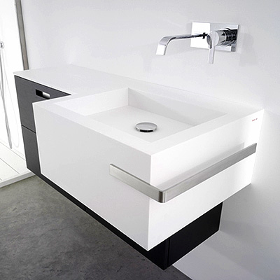 antonio lupi point basin Point basin by Antonio Lupi Design   the new countertop with an integrated basin