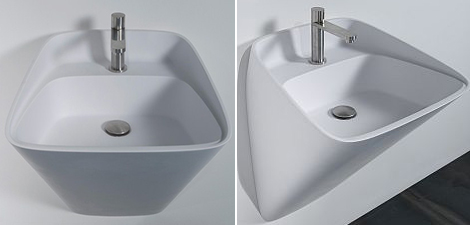 antonio lupi sink tratto 3 Unique Bathroom Sink   ultra modern sink by Carlo Colombo