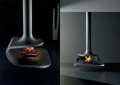 antrax drop suspended fireplace