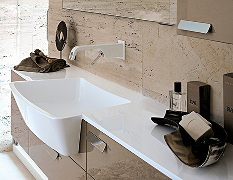 apron front bathroom sink beautifies new modern bathroom collection by idea - Modern Bathroom Sinks