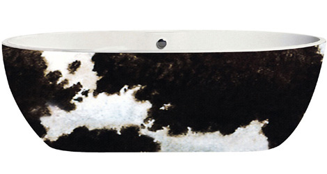Aquamass bathtub Just Animals Cow Hide leather pattern
