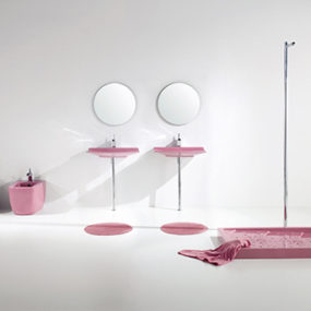 Pink Bathroom Fixtures – 'Lilac' Bathroom Sets by Aquaplus