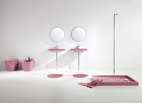 aquaplus pink bathroom fixtures lilac 1 Pink Bathroom Fixtures   Lilac Bathroom Sets by Aquaplus