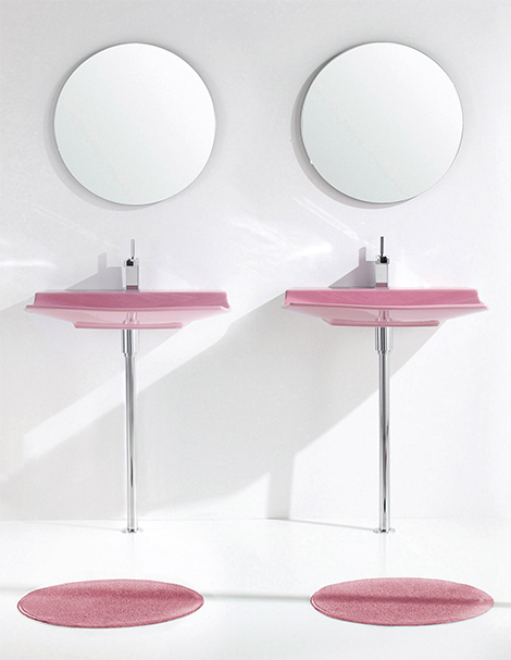 aquaplus pink bathroom fixtures lilac 2 Pink Bathroom Fixtures Lilac Bathroom Sets by Aquaplus