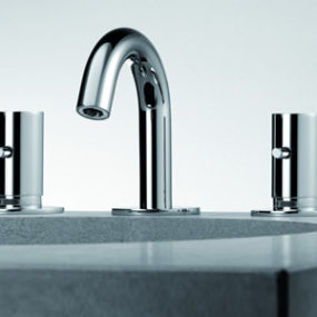 Contemporary bidet mixer by Bonomi – Zero faucet series from Aquaplus Solutions