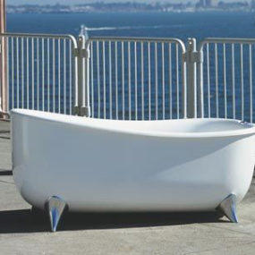 Helsingor Bath from AQVA Design – contemporary freestanding soaking tub