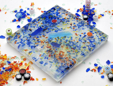archeo ceramica natural decor resin covering puzzle