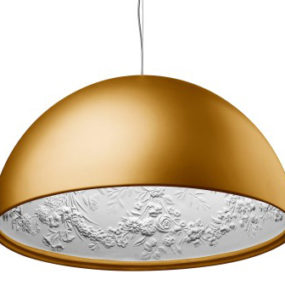 Architectural Pendant Lights – oversized lighting with hidden antique molding by Flos
