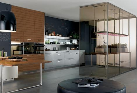 arclinea kitchen italia thumb Arclinea Kitchen   Eco compatible kitchen Italia with greenhouse