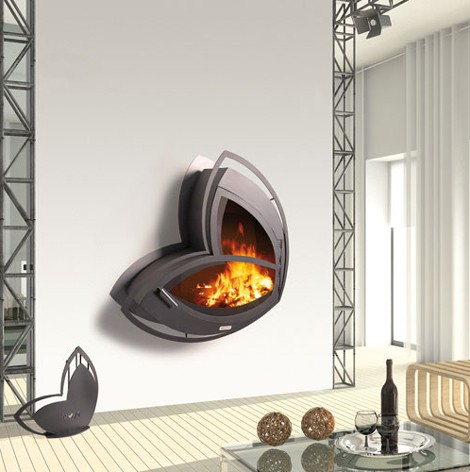 arkiane fireplace icoi 1 Wall mount Fireplace from Arkiane   new Icoi (Icoya) and Yan Li