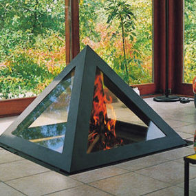Contemporary Fireplace from Arkiane – Kephren fireplace