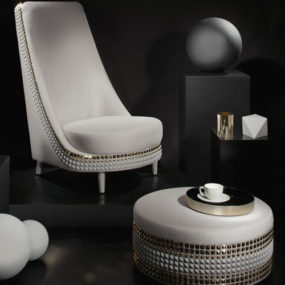 Dazzling Furniture by Lee Broom – studded upholstery