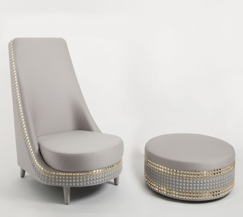 Superbe Armchair Salon Lee Broom 2 Dazzling Furniture By Lee Broom Studded  Upholstery