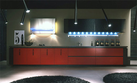 Arrital Cucine Area kitchen showing lighted cabinets