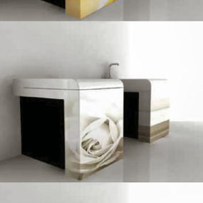 Toilet and Bidet with floral patterns from Art Ceram