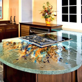 Marvelous Modern Kitchen Countertops From Unusual Materials: 30 Ideas