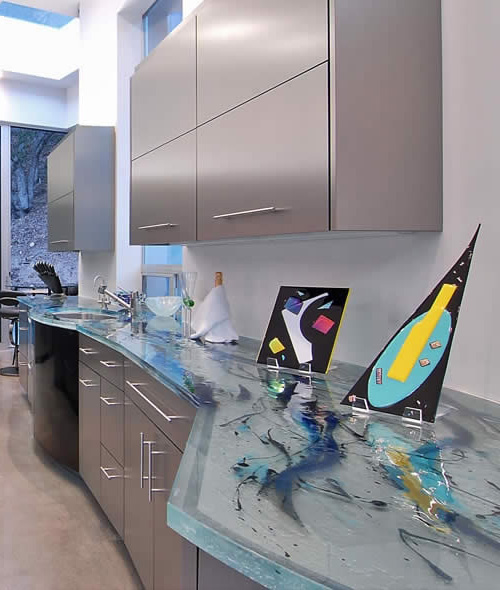 Art Glass Countertops Thinkglass 3 Art Glass Countertops By ThinkGlass