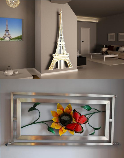 art radiators eiffer tower 1 Art Radiators turn up the heat in your home this winter