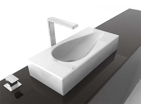 artceram deck mount washbasin spoon 60 Bathroom Washbasin from ArtCeram   new 2008 luxury washbasins