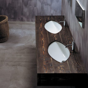 ArtCeram Wooden Vanity Sink: Drop