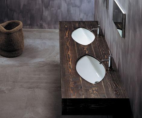 artceram drop 70 basin ArtCeram Wooden Vanity Sink: Drop