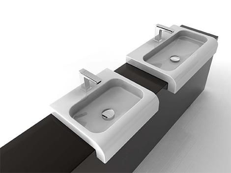 artceram semi recessed washbasin Bathroom Washbasin from ArtCeram   new 2008 luxury washbasins