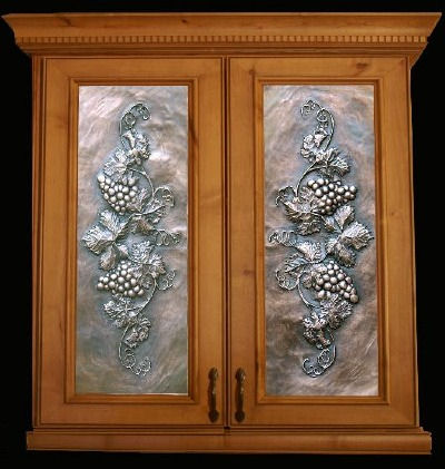 Artful Inserts Metal Cabinet Panels Art Metal Panels From Artful Inserts  The Cabinet Door Panels