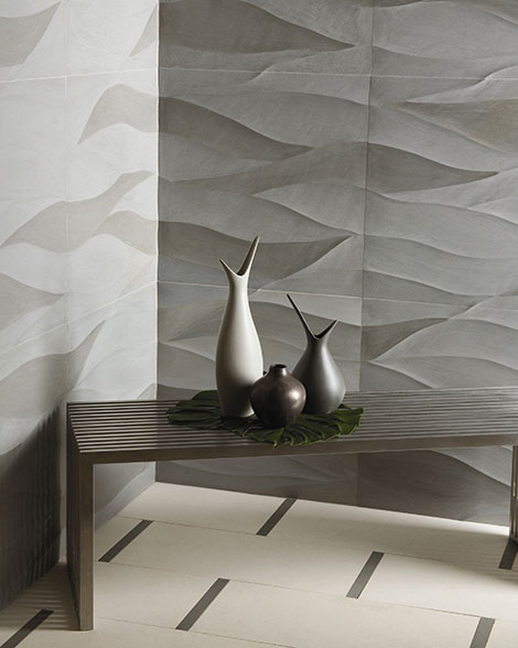 Artistic Tiles Ambra1 3 Dimensional Wall For Outdoor By Tile