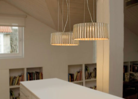 arturo alvarez llittle suspension lamp shio Modern Wood Lamps by Arturo Alvarez   Shio